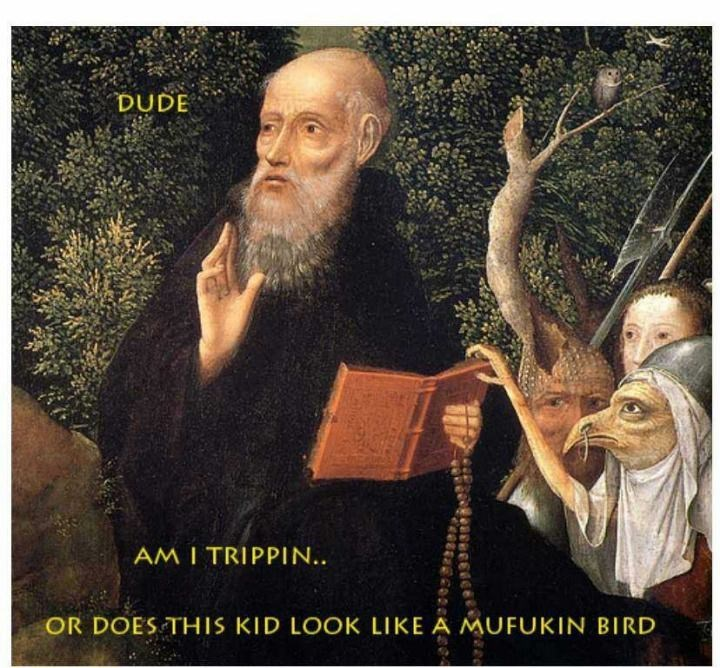 Photo caption - DUDE AM I TRIPPIN. OR DOES THIS KID LOOK LIKE A MUFUKIN BIRD