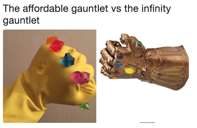 Animation - The affordable gauntlet vs the infinity gauntlet