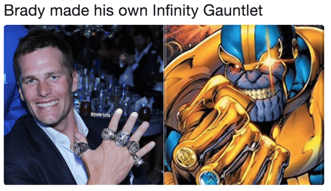 Fictional character - Brady made his own Infinity Gauntlet Spatrlots