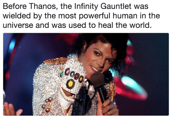 Music artist - Before Thanos, the Infinity Gauntlet wielded by the most powerful human in the universe and was used to heal the world. O
