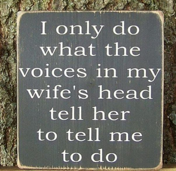 Font - I only do what the voices in my wife's head tell her to tell me to do