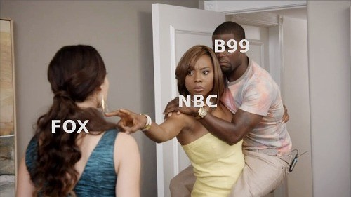 Funny meme about NBC picking up brooklyn 99.