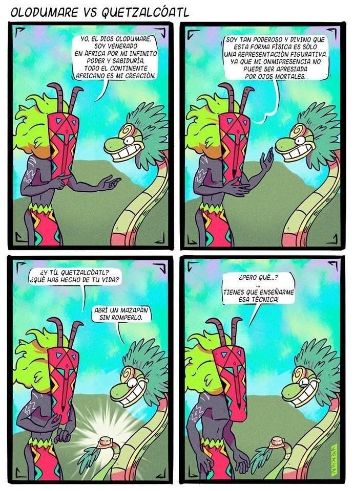 lucha entre dioses se decide en un mazapan