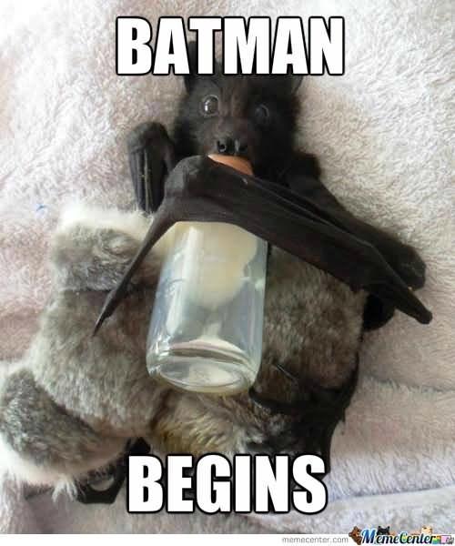 meme - Photo caption - BATMAN BEGINS MemeCentere memecenter.com