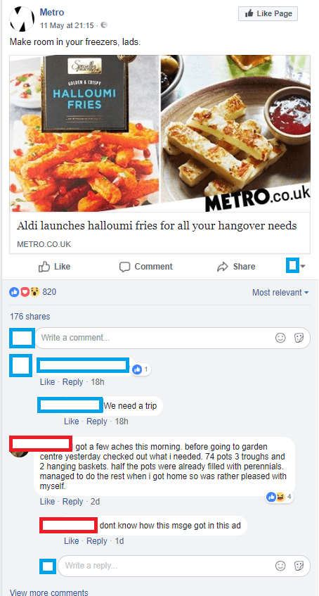 Food - Metro Like Page 11 May at 21:15 Make room in your freezers, lads. OLDEN &CRISP HALLOUMI FRIES METRO.co.uk Aldi launches halloumi fries for all your hangover needs METRO.CO.UK Like Comment Share O820 Most relevant 176 shares Write a comment... Like Reply 18h We need a trip Like Reply 18h got a few aches this morning. before going to garden centre yesterday checked out what i needed. 74 pots 3 troughs and 2 hanging baskets. half the pots were already filled with perennials managed to do the