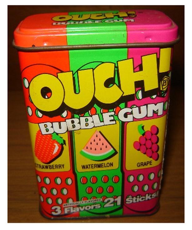 nostalgic - Snack - CUP OUCH प्व BUBBLE GUM STRAWBERRY WATERMELON GRAPE ARTINCIALLY PLAVGRED 3 Flavors21 Sticks