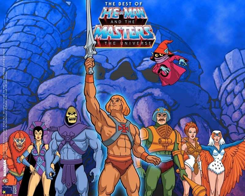 nostalgic - Animated cartoon - THE BEST OF HE-MA AND THE VLASTERS THE UN IVERSE JA7 MADMAN 9ntertainment Rights PLC.