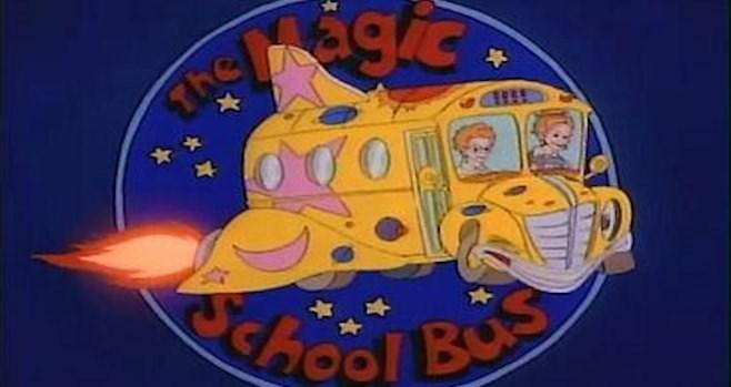 nostalgic - Animated cartoon - School Bus