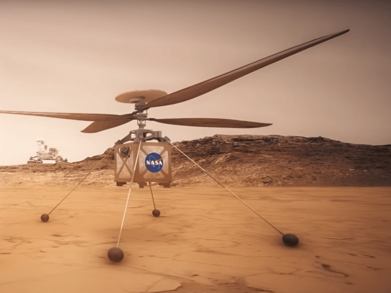 NASA designed a helicopter to be used on the next Mars mission