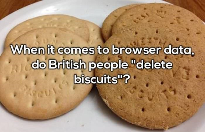 """Food - When it comes to browser data, RICdo British people """"delete biscuits""""? 3 QUIS"""