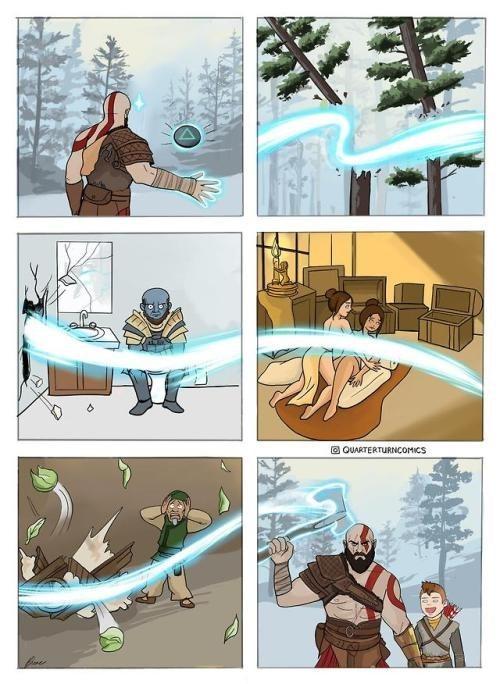 el hacha de kratos que siempre regresa a su mano