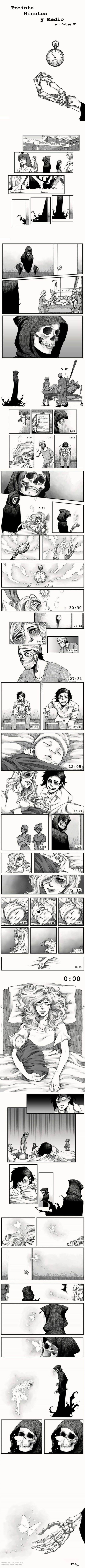 historia triste de la muerte llevandose a una madre