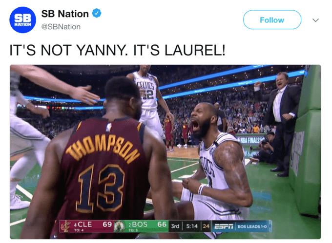 """IT'S NOT YANNY. IT'S LAUREL"""