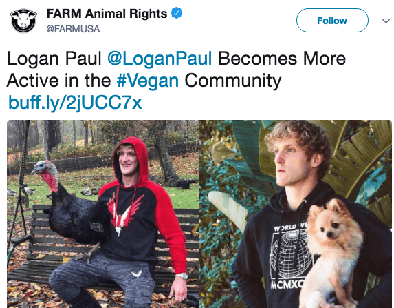 Adaptation - FARM Animal Rights Follow @FARMUSA Logan Paul @LoganPaul Becomes More Active in the #Vegan Community buff.ly/2jUCC7x WORLD V ИСМХО