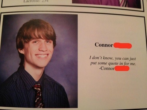 Text - Lacrossc 434 Connor I don't know, you can just put some quote in for me. -Connor