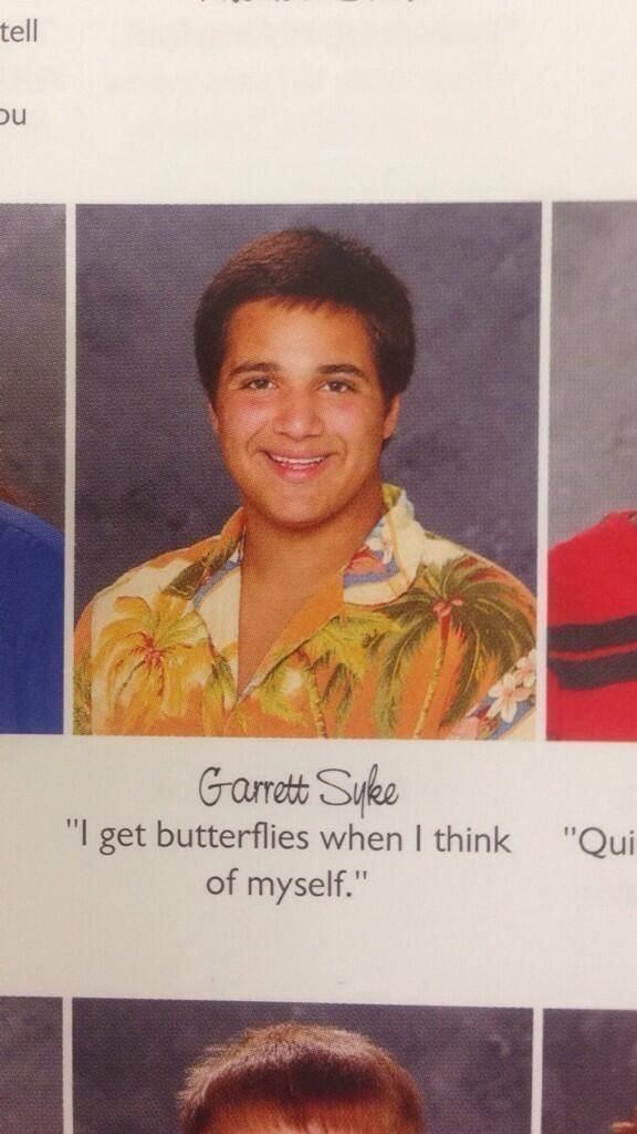 "Text - tell Gaett Suke ""I get butterflies when I think of myself."" ""Qui"