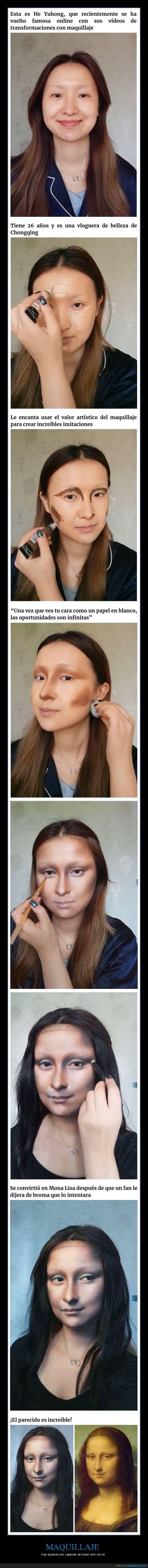 increible el poder del maquillaje mona lisa