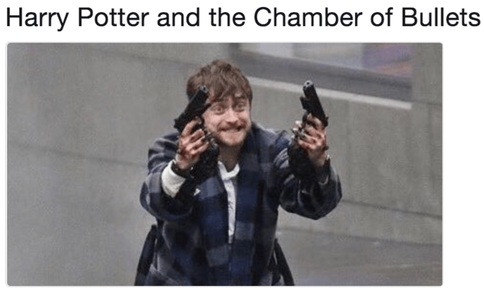 Text - Harry Potter and the Chamber of Bullets