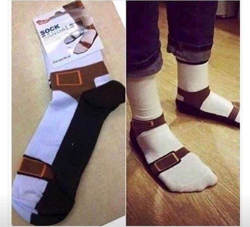 cursed image - White - SOCK and sandals