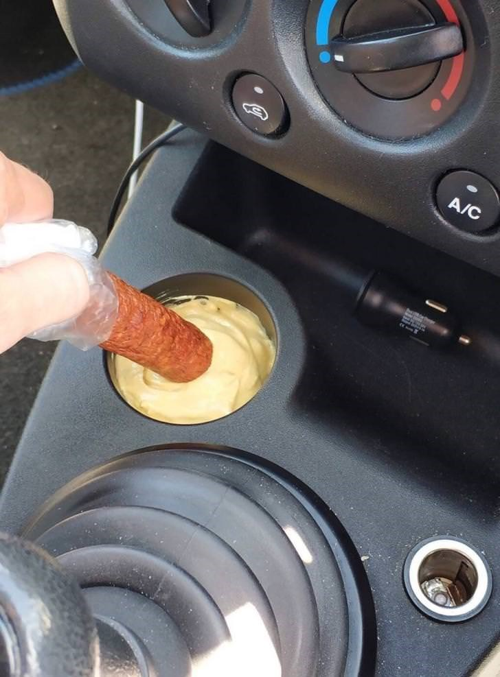 cursed image - Steering part - A/C filled with a dip