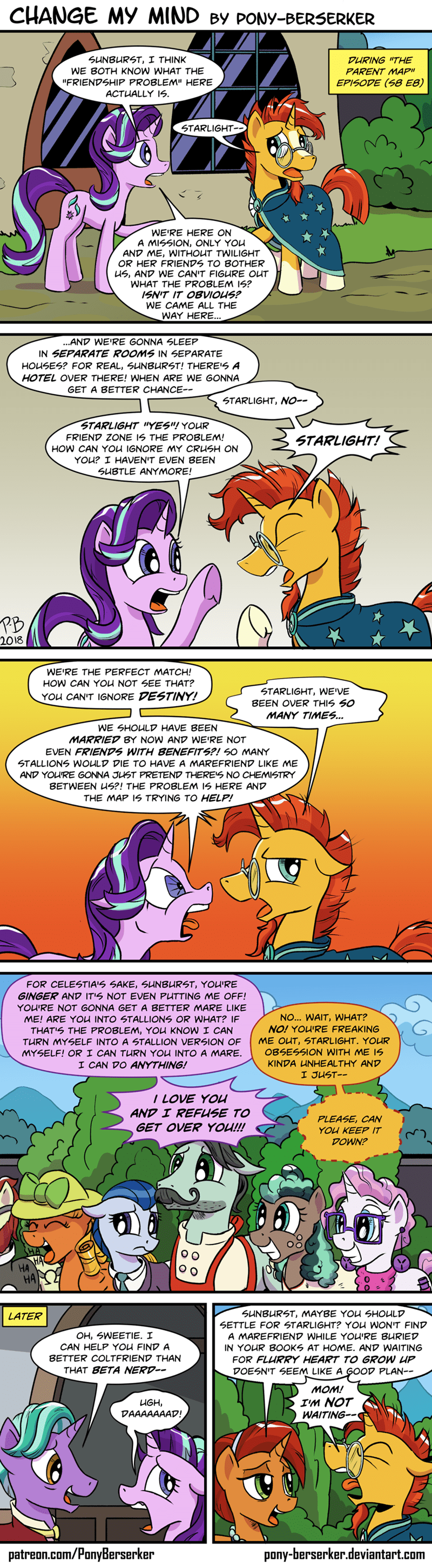 firelight the parent map sunburst starlight glimmer pony-berserker comic stellar flare - 9165841664