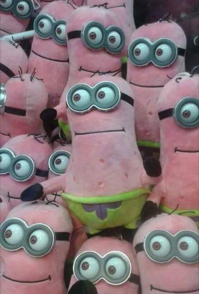 memes - Pink - 87 patrick and minions combined