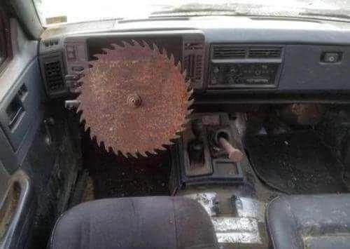 memes - Land vehicle steering wheel is dangerous