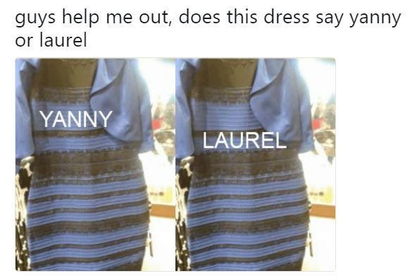 Clothing - guys help me out, does this dress say yanny or laurel YANNY LAUREL