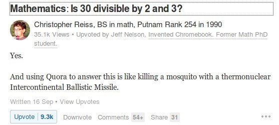 """""""Mathematics: Is 30 divisible by 2 and 3?"""""""