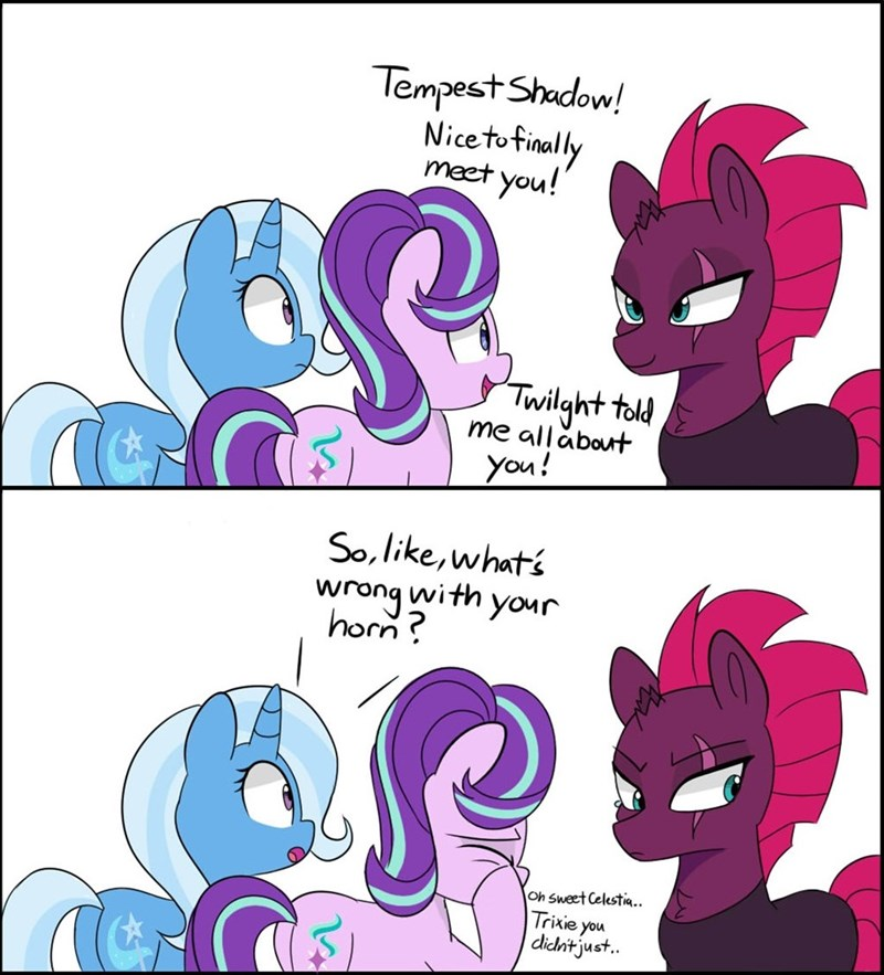 tempest shadow the great and powerful trixie starlight glimmer balance comic - 9166189824