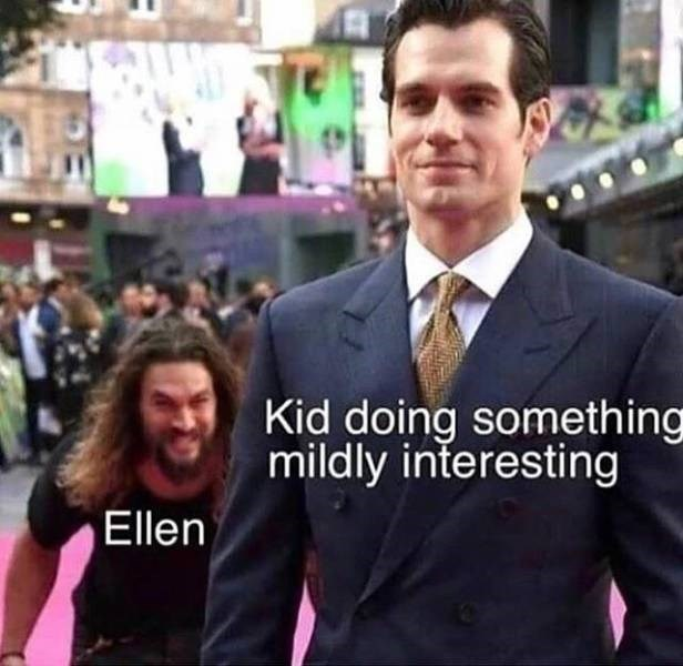 Suit - Kid doing something mildly interesting Ellen
