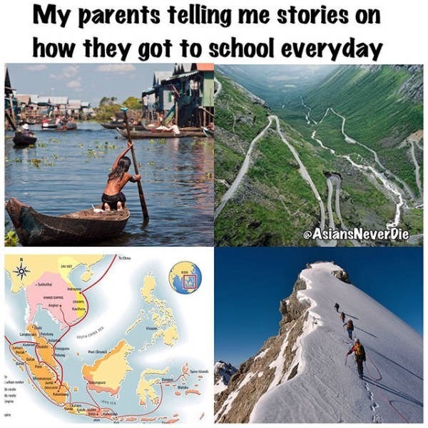 Water - My parents telling me stories on how they got to school everyday AsiansNeverDie TeC S L