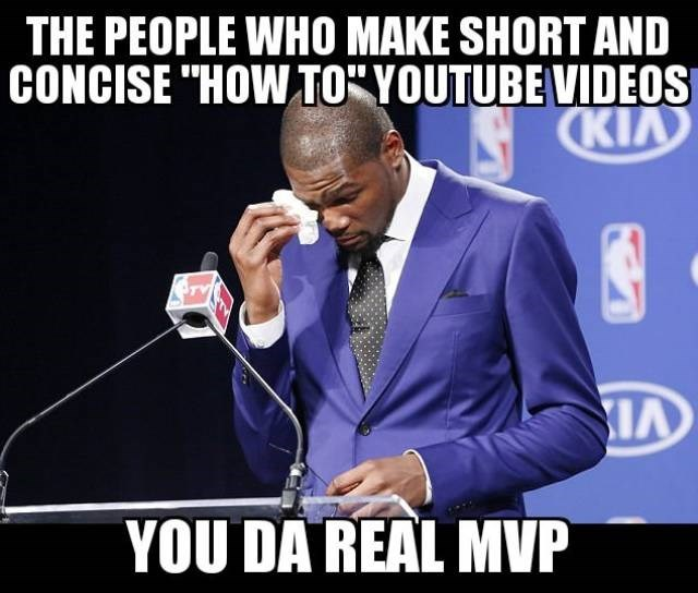 "Spokesperson - THE PEOPLE WHO MAKE SHORT AND CONCISE ""HOW TO""YOUTUBEVIDEOS CKIA A YOU DA REAL MVP"
