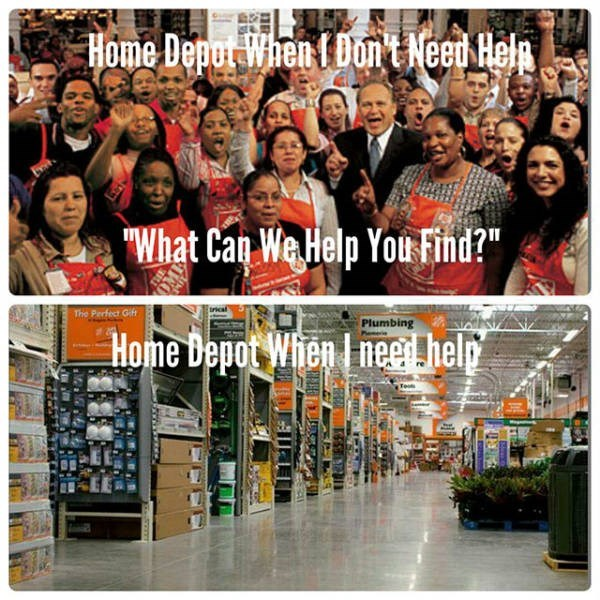 "Product - Home Depot When I Dont Neet Heln What Can We Help You Find?"" The Perfect Gift Plumbing Home Depot When I neer help"
