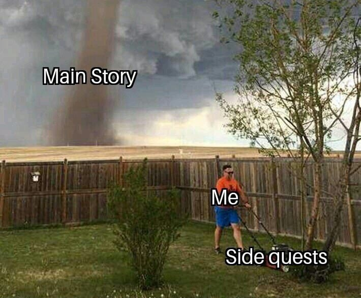 Funny meme about side quests.
