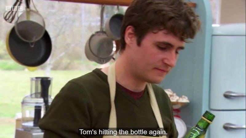 Ear - BEC Tom's hitting the bottle again.
