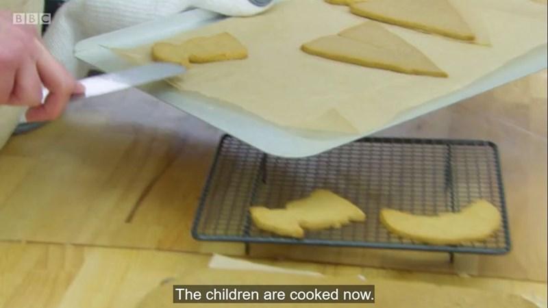 Food - В В С The children are cooked now.