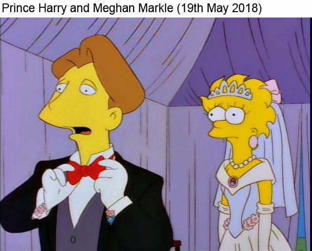 Animated cartoon - Prince Harry and Meghan Markle (19th May 2018)