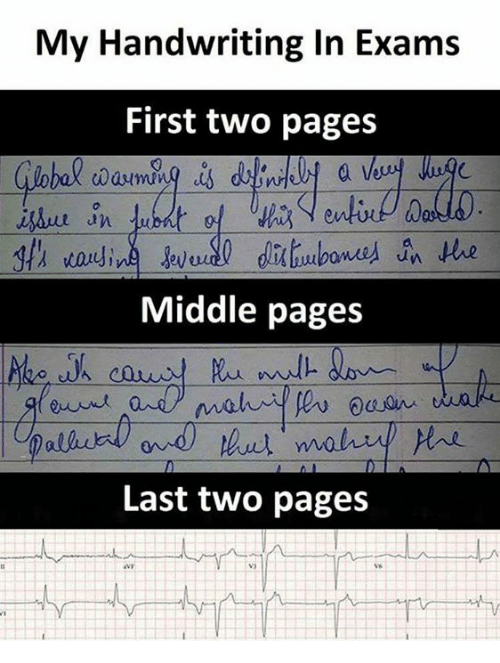 Text - My Handwriting In Exams First two pages due in fubdt of euti Dals th wauling eved dibones n Hhe Middle pages andmaliu oaan Last two pages