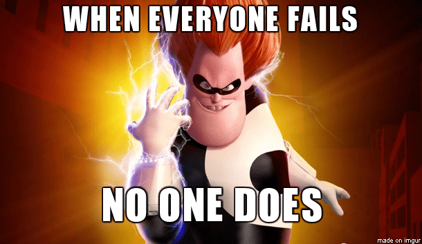 Animated cartoon - WHEN EVERYONE FAILS NO ONE DOES made on imgur