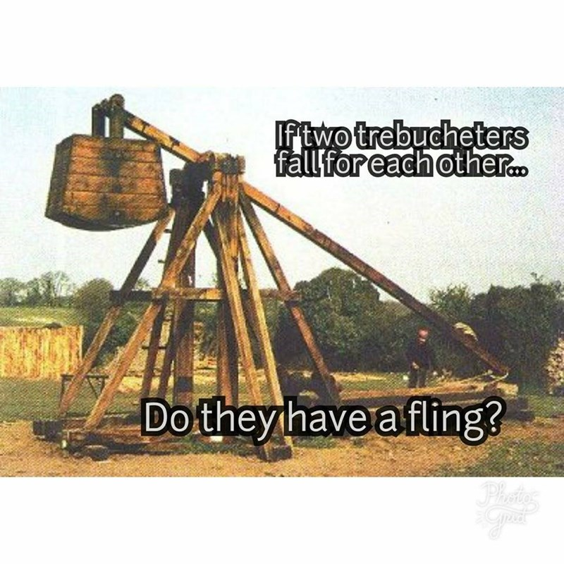 Tripod - If two trebucheters fall for each other. Dothey have afling? Photos