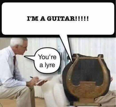 Cartoon - IMA GUITAR!!!! You're a lyre
