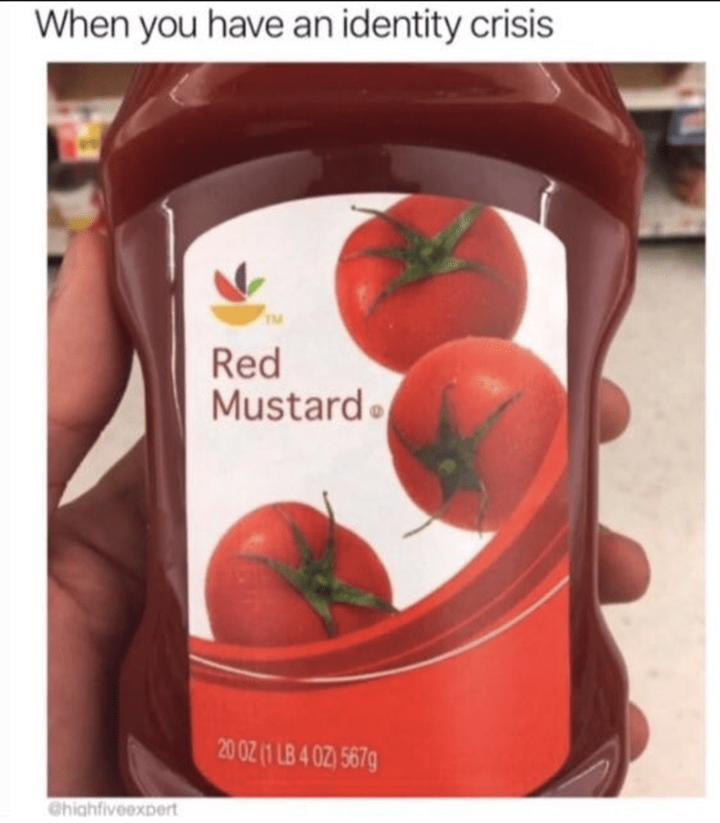 """Ketchup labeled as """"red mustard"""""""