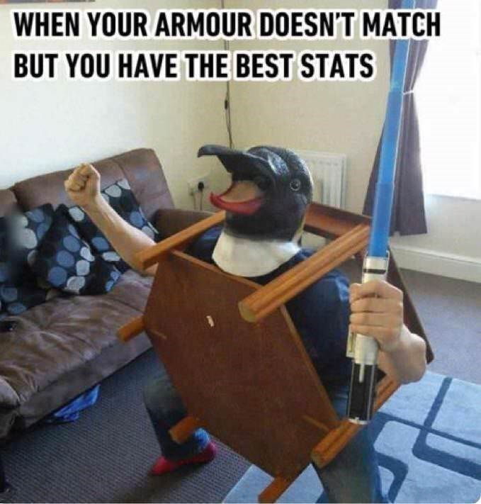 Animation - WHEN YOUR ARMOUR DOESN'T MATCH BUT YOU HAVE THE BEST STATS
