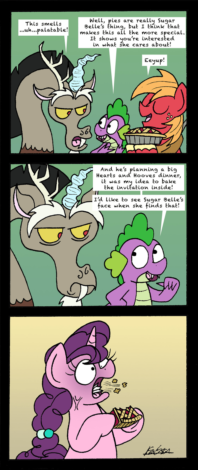 spike sugar belle discord bob the dalek the breakup breakdown Big Macintosh comic - 9166705920