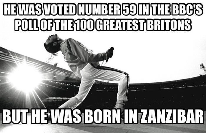 Sports - HEWAS VOTED NUMBER59IN THE BBC'S POLLOFTHE 100 GREATEST BRITONS BUT HEWAS BORNIN ZANZIBAR