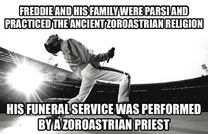 Font - FREDDIEAND HISFAMILYWERE PARSIAND PRACTICED THE ANCIENTZOROASTRIANRELIGION HIS FUNERALSERVICE WAS PERFORMED BYAZOROASTRIAN PRIEST