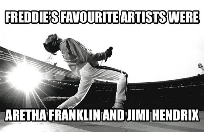 Sports - FREDDIES FAVOURITE ARTISTS WERE ARETHA FRANKLINAND JIMI HENDRIX