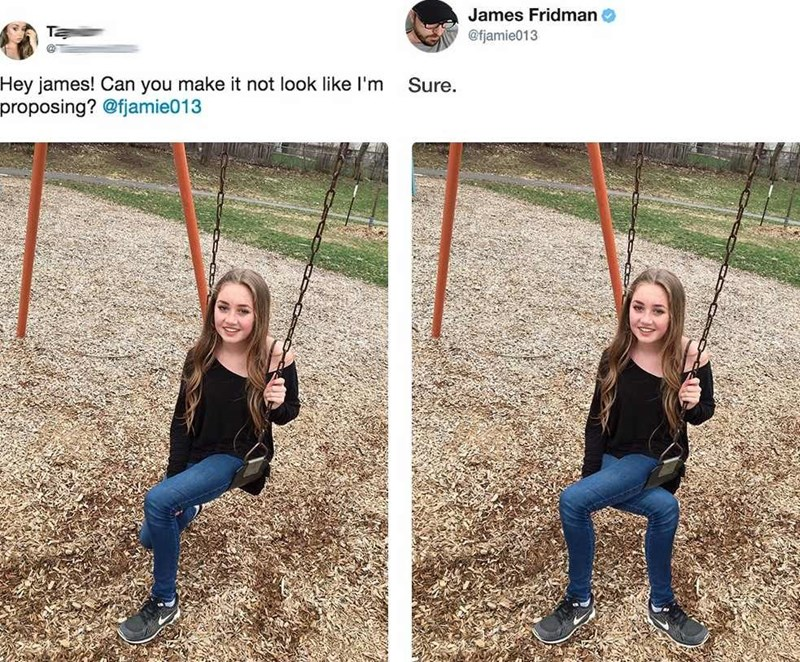 Swing - James Fridman @fjamie013 Hey james! Can you make it not look like l'm proposing? @fjamie013 Sure