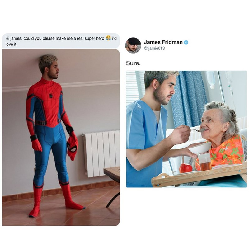 Fictional character - Hi james, could you please make me a real super hero i'd James Fridman @fjamie013 love it Sure.